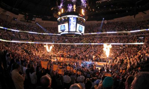 Memphis Grizzlies playing at FedExForum. Photo Credit: Joe Murphy/NBAE/Getty Images