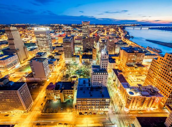 Aerial view of downtown Memphis | Phillip Van Zandt